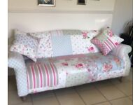 DFS DOLL PATCHWORK 3 SEATER SOFA CAN DELIVER FREE