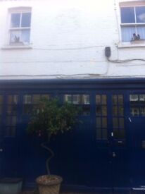2 bed council flat in cobbled mews Belsize Village Hampstead NW3