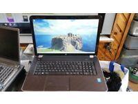 HP Pavilion 17-e105sa Notebook PC windows 7 8g memory processor 2.50ghz intel core i5