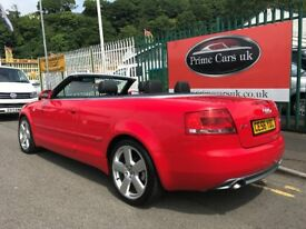 2006 (56 reg) Audi A4 Cabriolet 2.0 TDI S Line Cabriolet Turbo Diesel 6 Speed Manual Convertible