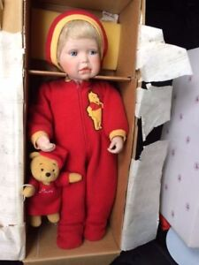 Ashton Drake Doll with Winnie the Pooh in the box