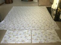 Beautiful Double Flat Sheet and Two Pillowcases - Only £1