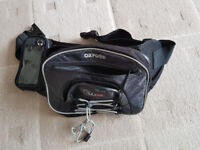 Motorcycle Oxford bum bag with visor pocket. Used but in very good condition.