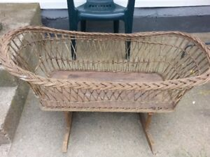 Antique Wicker CRADLE