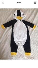 Penguin Suit Baby Pramsuit Babygro Sleepsuit 0-3 Month