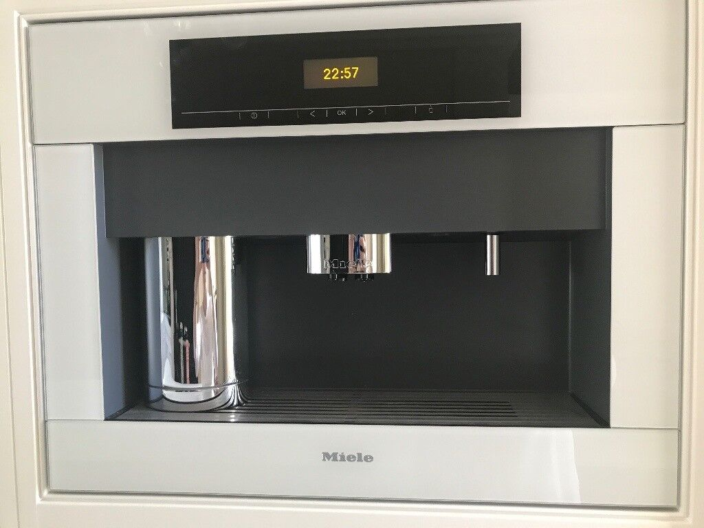 Miele White Integrated Coffee Machine In Oldham