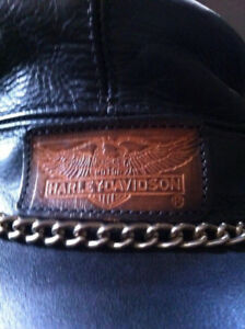 Leather Harley Davidson rebel hat
