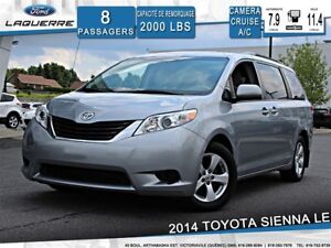 2014 Toyota Sienna LE**8 PLACES*CAMERA*BLUETOOTH*CRUISE*A/C 3 ZO