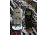 Olympus VN-711PC digital voice recorder & Sony battery charger