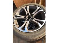 "Vauxhall insignia 18"" alloy wheel and tyres for sale"