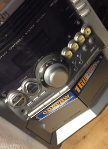 JVC sound system with speakers CD player and tape deck