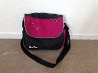 Black & Pink Silver Cross bag
