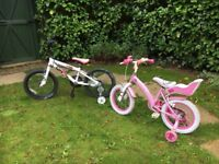 Boys 16 inch bike and Girls 14 inch bike