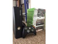 Xbox 360 with 17 games