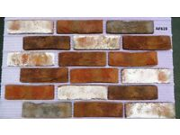 Brick tiles (slips) Rustic, red/black/ white flamed ref 619NF Hand molding