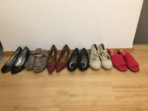 Size 9 - 6 pairs of women's shoes