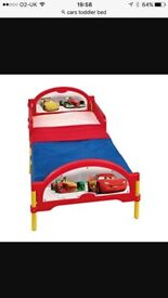 Cars toddler bed and mattress