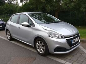 "Silver 2015 Peugeot 208 5 Door - Economical 1.6 BlueHDi Diesel - £0 Tax - Cruise Cont. - 7"" Screen"