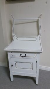 Sweet Shabby Chic Painted Little Antique Washstand Cabinet Table