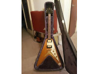 Epiphone Flying V Limited Edition Korina with extensive upgrades