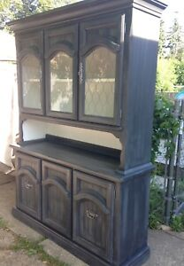Two Piece Hutch For Sale