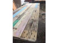 Reclaimed wood dining table. One off