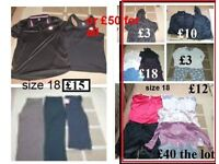 ladies clothes size 18 prices on pictures or £50 the lot collection from Didcot
