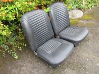 PAIR OF BLACK CAR SEATS SUITS MIDGET OR SPRITE