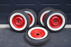 WIDE WHITEWALL TIRES AND RIMS
