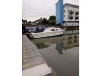 four berth motor cruiser 'bedsit' on residential berth