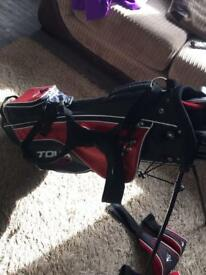 Full set junior golf clubs and stand bag