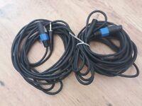 Speakon cables. App 32ft/9.75m X2