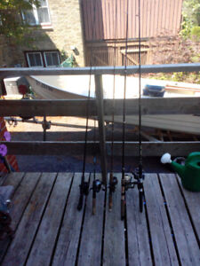Fishing rods and reels.