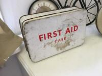 X2 original first aid kits antique retro vintage