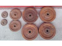Cast Iron Metal discs plates from Hercules they need painting in total 34 kg