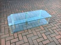 Television Glass Table Like new.