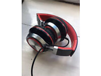 Black and Red Wired Headphones