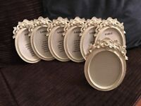 Vintage style Wedding photo frames/table planners