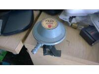 Gas bottle regulator for butane -lock on type