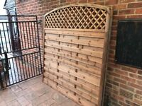 Good quality Garden Fence 2x 1.8m + Free post and anchor
