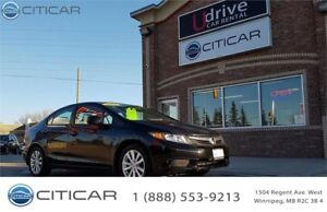 2012 HONDA CIVIC SDN EX,**MOON ROOF**ONE OWNER**CLEAN TITLE**
