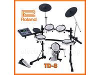 Roland TD-8 kit V Drums kit VEX pack upgraded electronic percussion set full MIDI for vst option