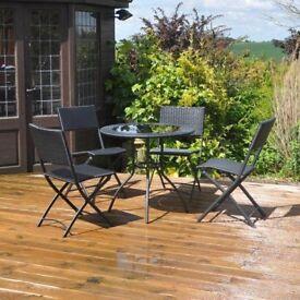 rattan effect 5 piece garden patio set free local delivery - Garden Furniture Eastbourne