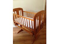 Traditional wooden Rocking Crib