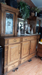 Antique furniture wall unit
