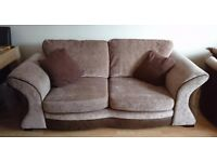 3 seater sofa bed & large swivel chair.
