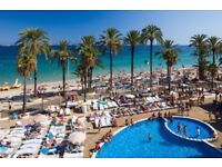 1 return flight ticket Manchester - Ibiza 14.SEP - 17.SEP