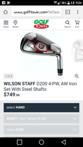 Wilson D200 Great Iron set for sale