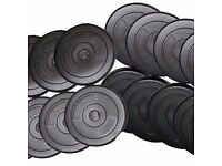 "Weight Plates Standard 1"" fitting; Vinyl Weight Training Plates: Brand New"
