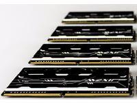 Avexir Blitz 1.1 16GB 4x4GB quad RAM 2400MHz Memory DDR4 Silver/Black, White LED